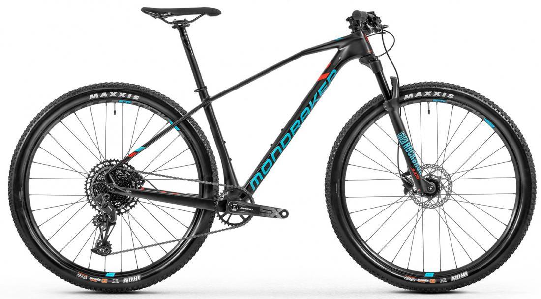 Horské kolo Mondraker Chrono Carbon 29, carbon/light blue/flame red, 2020