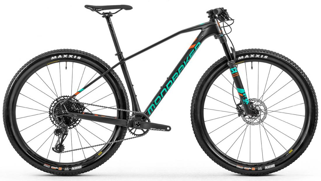 Horské kolo Mondraker Chrono Carbon RR 29, carbon/light blue/flame red, 2020