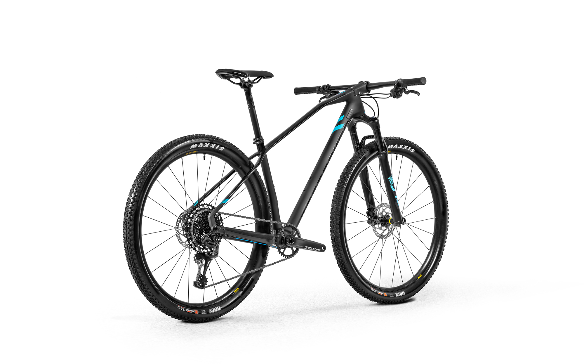 Horské kolo Mondraker Podium Carbon, black phantom/light blue, 2020