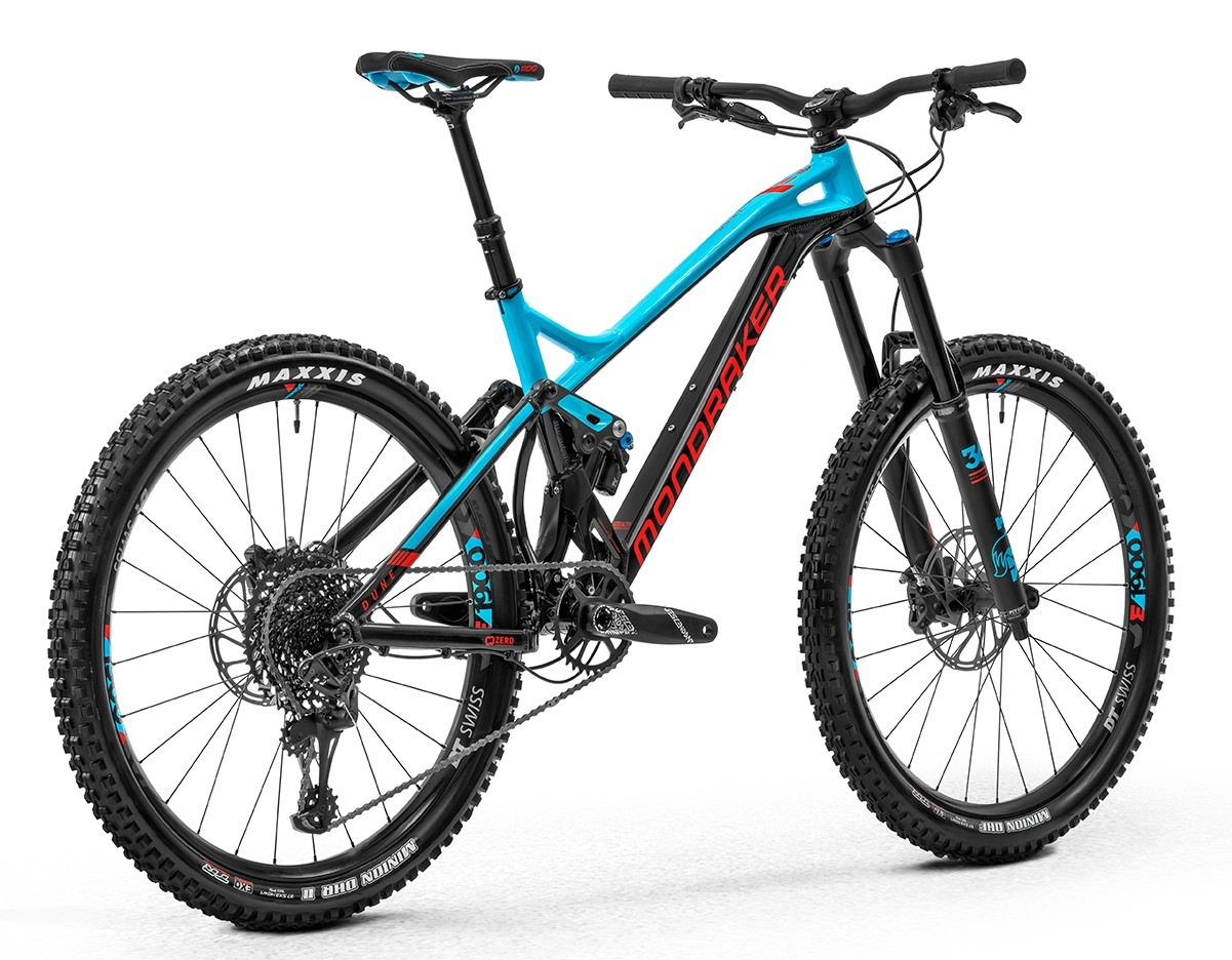 Horské kolo Mondraker  Dune R, black/light blue/flame red, 2020