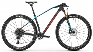 Horské kolo Mondraker Podium Carbon RR, carbon/light blue/flame red, 2020